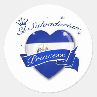 El Salvadorian Princess Round Stickers