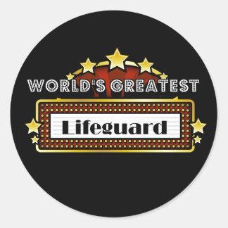 El salvavidas más grande del mundo etiquetas redondas