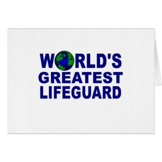 El salvavidas más grande del mundo tarjeta de felicitación