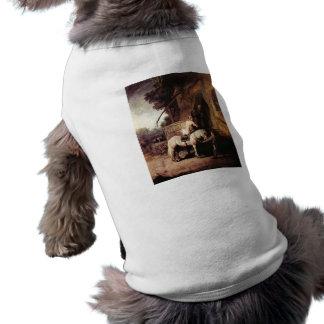 El samaritano compasivo de Rembrandt Playera Sin Mangas Para Perro
