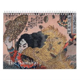 El samurai calendario de pared