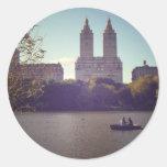 El San Remo visto de Central Park, New York City Etiquetas Redondas