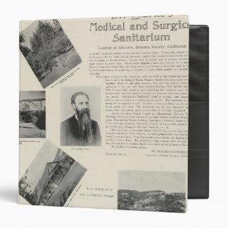 """El sanatorio de Burke, California Carpeta 1 1/2"""""""