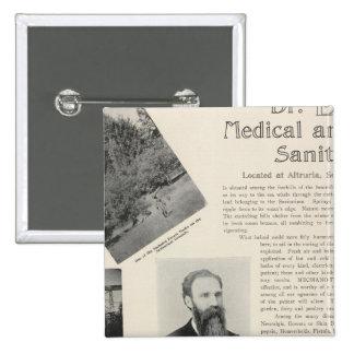 El sanatorio de Burke, California Pin