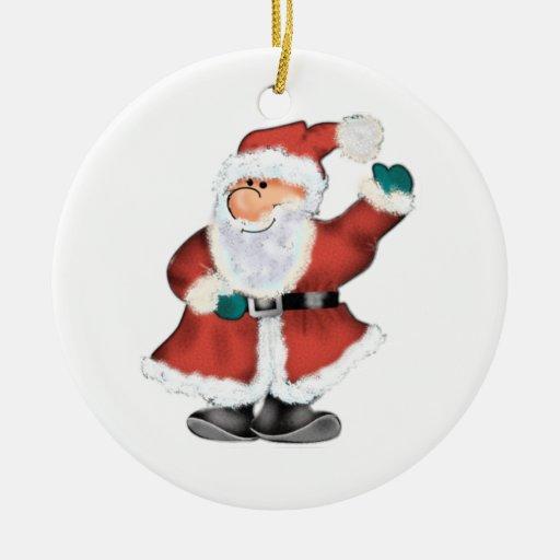 ¡El Santa más lindo nunca!  Personalizar - añada s Ornamentos De Navidad