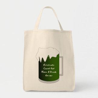 El santo acaricia a la taza bolsa lienzo