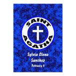 El santo Agatha invita Invitación 12,7 X 17,8 Cm