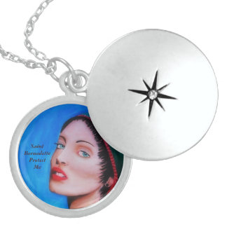 El santo Bernadette me protege Medallón