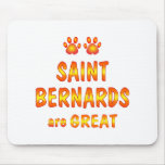 El santo Bernards es grande Alfombrillas De Ratón