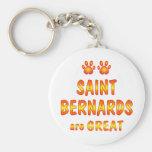 El santo Bernards es grande Llavero