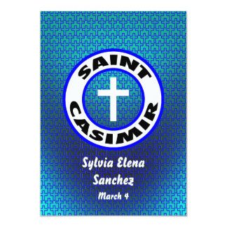El santo Casimiro invita Invitación 12,7 X 17,8 Cm