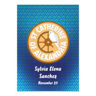 El santo Catherine de Alexandría invita Invitación 12,7 X 17,8 Cm