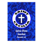 El santo Cecilia invita Invitación 12,7 X 17,8 Cm