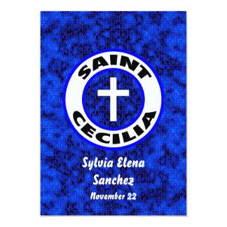 """El santo Cecilia invita Invitación 5"""" X 7"""""""