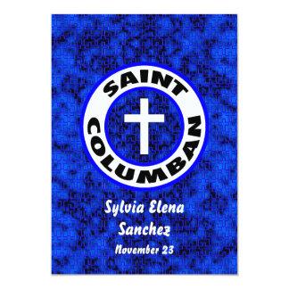 El santo Columban invita Invitación 12,7 X 17,8 Cm