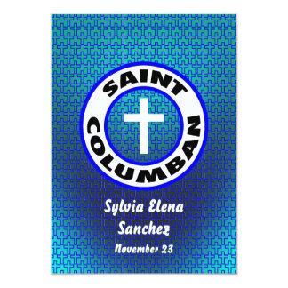 """El santo Columban invita Invitación 5"""" X 7"""""""