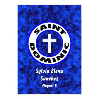 El santo Dominic invita Invitación 12,7 X 17,8 Cm