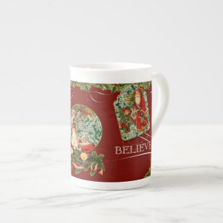 El santo elegante Nicholas de Santa cree el vintag Taza De Porcelana