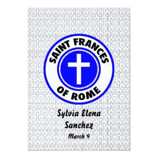 El santo Frances de Roma invita Invitación 12,7 X 17,8 Cm