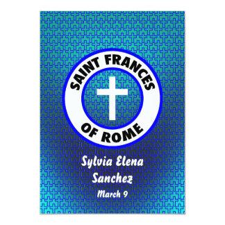 """El santo Frances de Roma invita Invitación 5"""" X 7"""""""