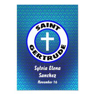 El santo Gertrudis invita Invitación 12,7 X 17,8 Cm