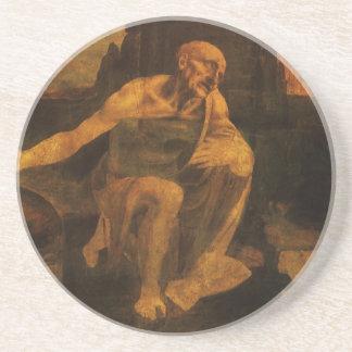 el santo Jerome de da Vinci Posavasos Personalizados