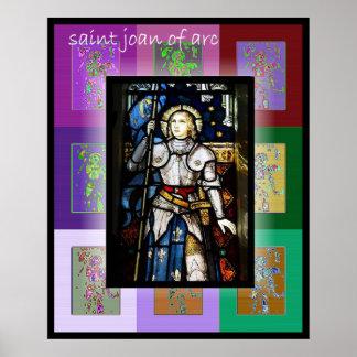 El santo Juana de Arco 2 del arte pop Poster