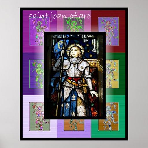 El santo Juana de Arco 2 del arte pop Póster
