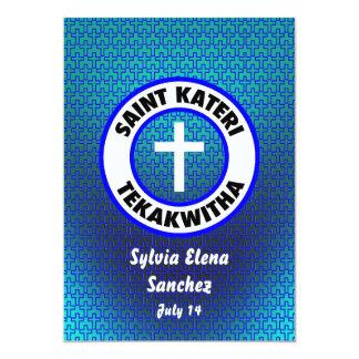 El santo Kateri Tekakwitha invita Invitación 12,7 X 17,8 Cm