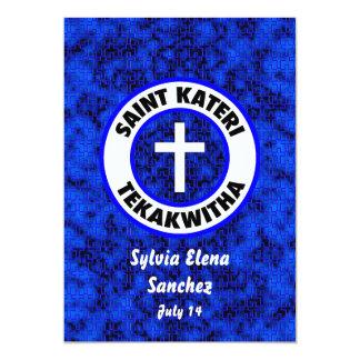 "El santo Kateri Tekakwitha invita Invitación 5"" X 7"""