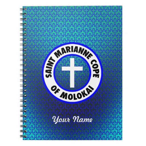El santo Marianne hace frente de Molokai Cuaderno