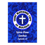 El santo Marianne hace frente de Molokai invita Invitación 12,7 X 17,8 Cm