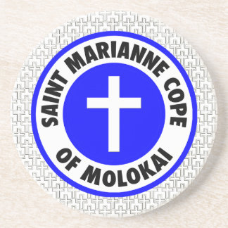 El santo Marianne hace frente de Molokai Posavasos Para Bebidas