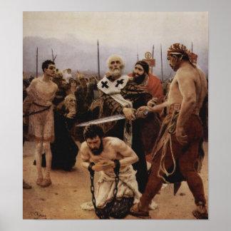 El santo Nicholas ahorra a tres Innocents de muert Póster