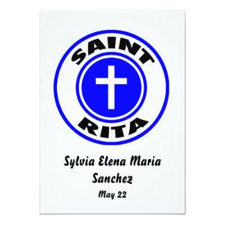 """El santo Rita invita Invitación 5"""" X 7"""""""