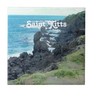 El santo San Cristobal costea Azulejo Cuadrado Pequeño