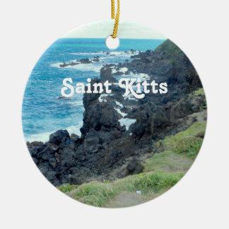 El santo San Cristobal costea Adorno Redondo De Cerámica