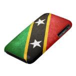 El santo San Cristobal/Nevis señala por medio de u iPhone 3 Case-Mate Carcasa