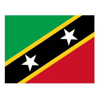 El santo San Cristobal y Nevis señala por medio de Postal