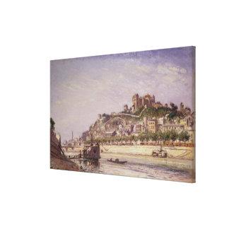 El Saone en Lyon, 1875 Impresiones En Lona Estiradas