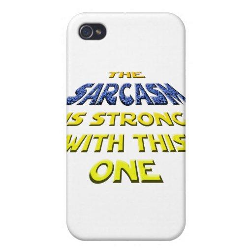El sarcasmo es fuerte con éste iPhone 4 fundas