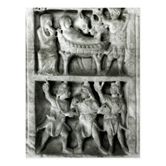 El sarcófago de la natividad postal