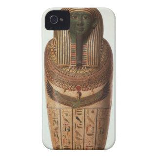 El sarcófago de Psamtik I (664-610 A.C.) tarde por iPhone 4 Case-Mate Carcasa