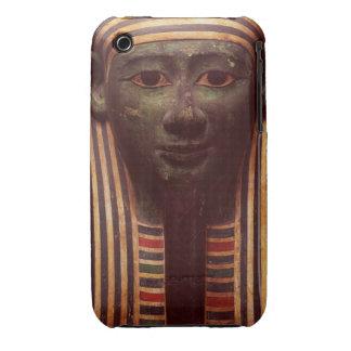 El sarcófago del detalle de Psametik (664-610BC) d iPhone 3 Cárcasa
