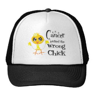 El sarcoma de Ewings escogió el polluelo incorrect Gorro De Camionero