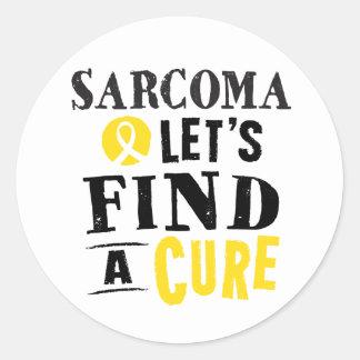El sarcoma deja para encontrar a los pegatinas de pegatina redonda