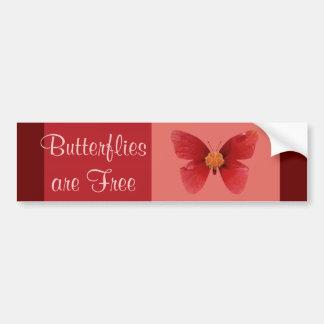 El sare de Butterflie libera Pegatina Para Auto