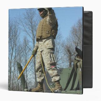 """El sargento del Cuerpo del Marines de los E.E.U.U. Carpeta 1 1/2"""""""