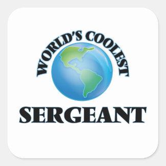 El sargento más fresco del mundo pegatina cuadrada