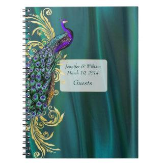 El satén del trullo y la huésped del boda del pavo libro de apuntes